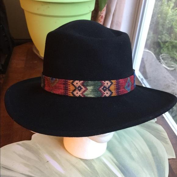 Scala Womens Wool Felt Western Aztec Print Band